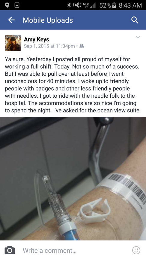 first post in hospital