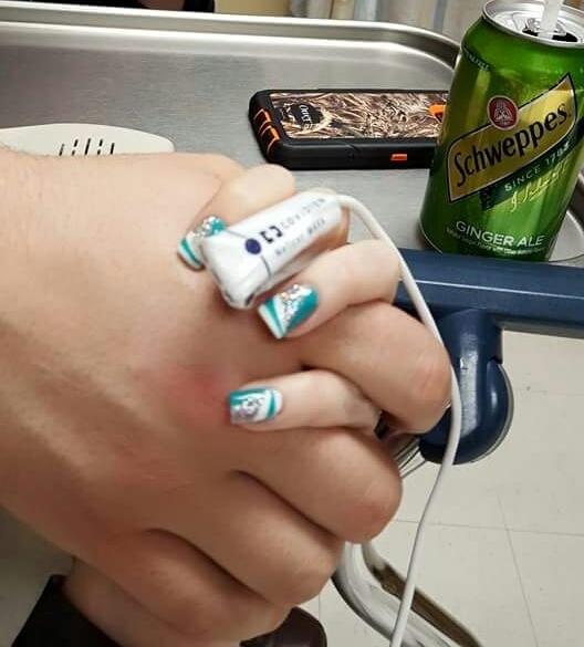 hand holding hospital 2