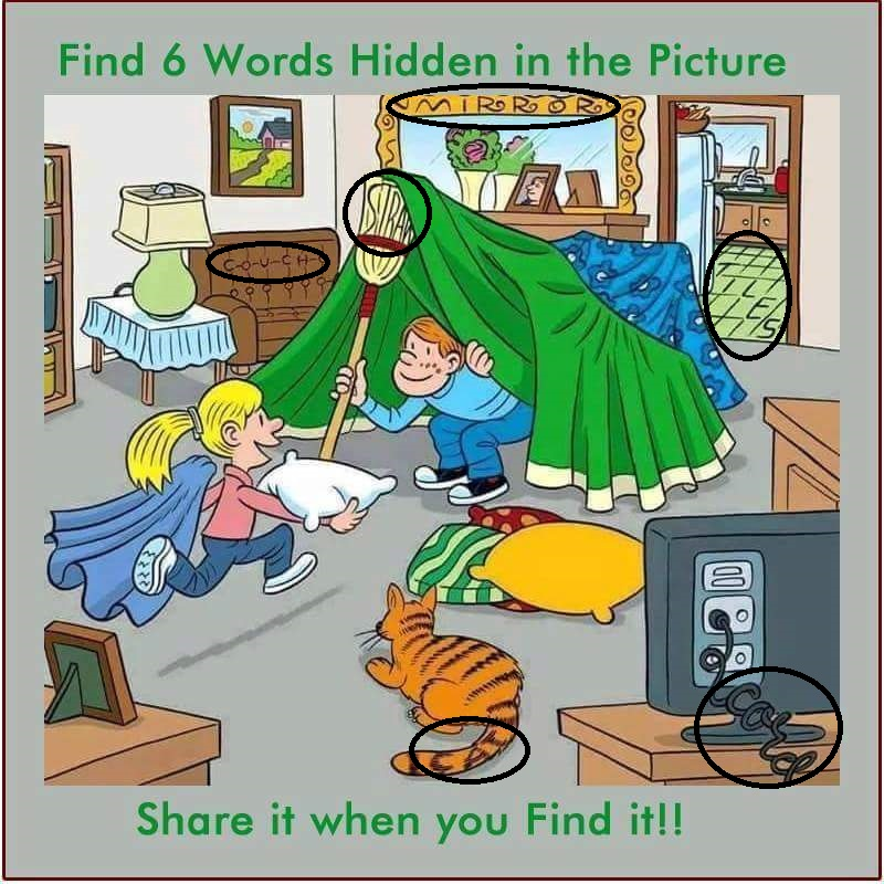 hidden word living room answers