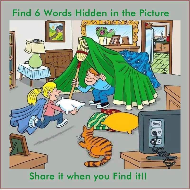 hidden word living room