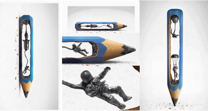 pencil sculptures