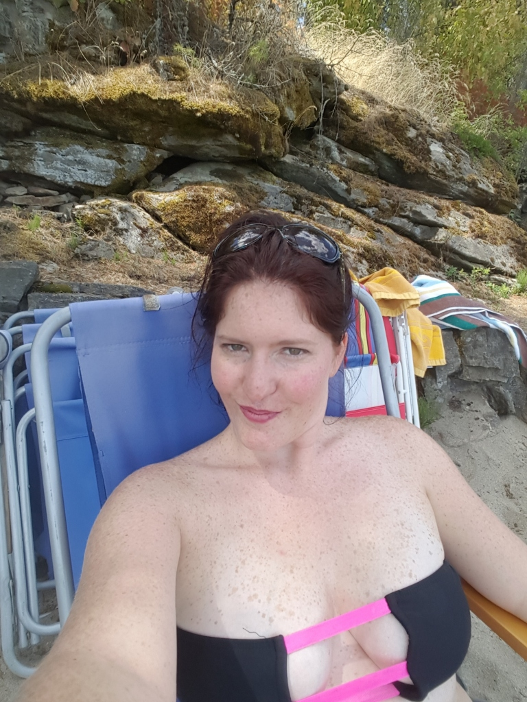 lake day selfie