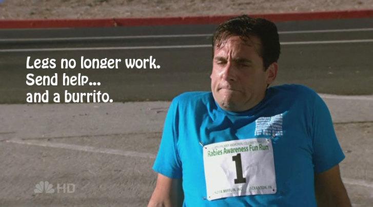 michael scott run