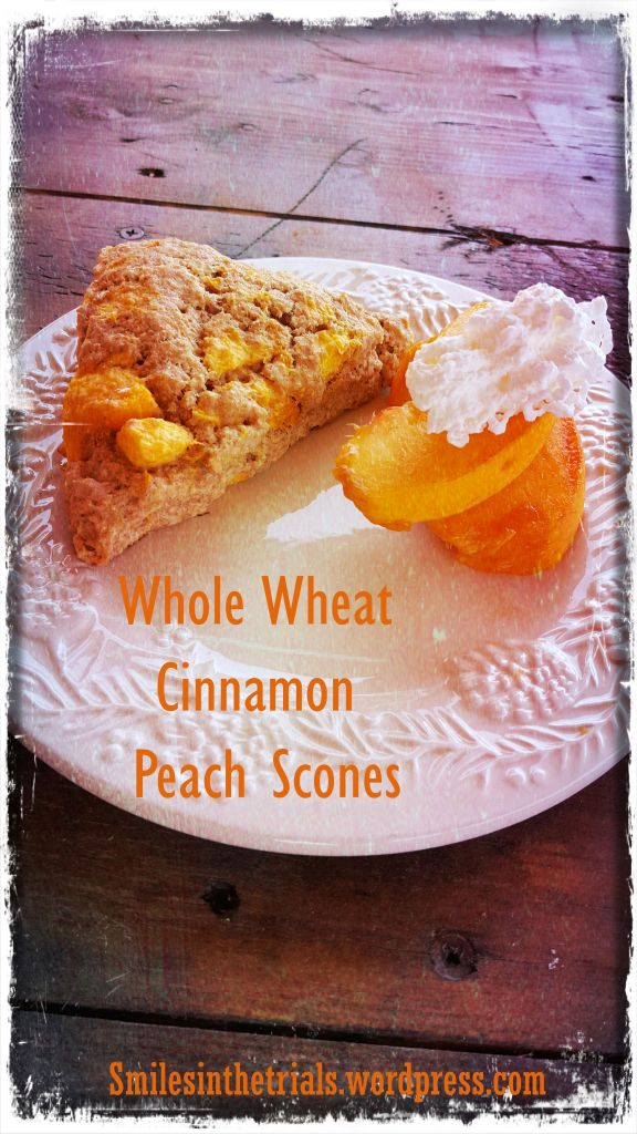 Whole Wheat Cinnamon Peach Scones